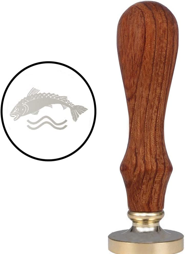VSECUON Wax Seal Stamp for Tully Fans Fish Seal Stamp (House Tully)