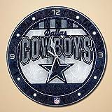 NFL Dallas Cowboys Art-Glass Wall Clock