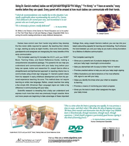 Sign with Your Baby: How to Communicate with Infants Before They Can Speak (Book, Quick Reference Guide & DVD) by Sign2me