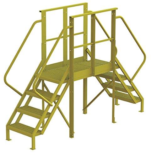 Tri Arc 7CY95 - Escalera cruzada, acero, 40 altura de plataforma, 40 sp, número de pasos 4: Amazon.es: Amazon.es