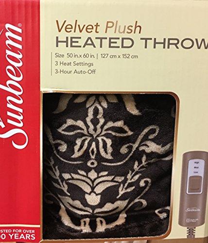 velvet plush heated throw