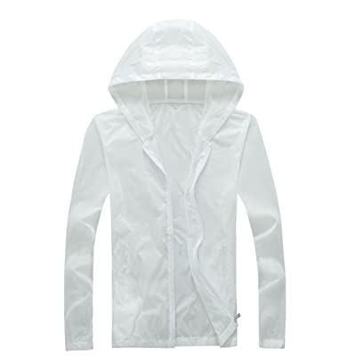 AiseBeau Men Women's Lightweight Hooded Jacket UV Protect Windproof Skin Coat