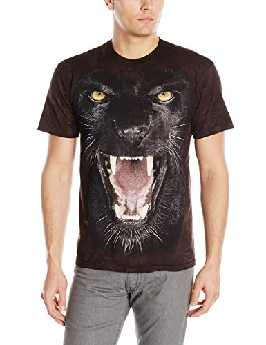 Panther Face (The Mountain Aggressive Panther Adult T-Shirt, Black, XL)