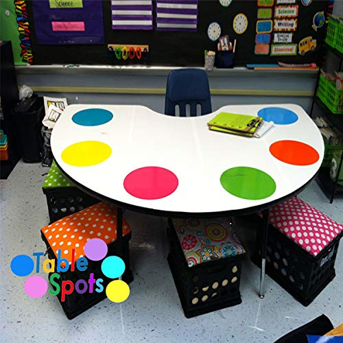 Colorful Dry Erase Dots Circles,Colorful Dry Erase Circles for Classroom Tables Desk,Colorful Dry Erase Dots Circles Whiteboard Marker Removable Vinyl Stickers Wall for Students (Vinyl Stickers Wall)