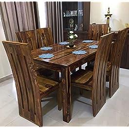Custom Decor Six Seater Dining Table Set