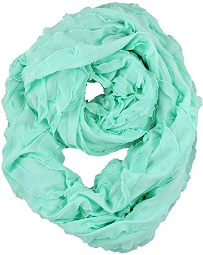 Brooke's Treehouse Infinity Scarf Nursing Cover (Mint Green Ruffle)