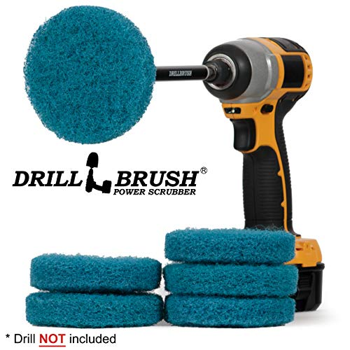 Kitchen Accessories - Cleaning Supplies - Drill Brush - Spin Scrubber - Oven Cleaner - Stove Top Cleaner - Pots and Pans - Kitchen Sink - Hard Water Stain Remover - Drill Attachment Power Scrubber