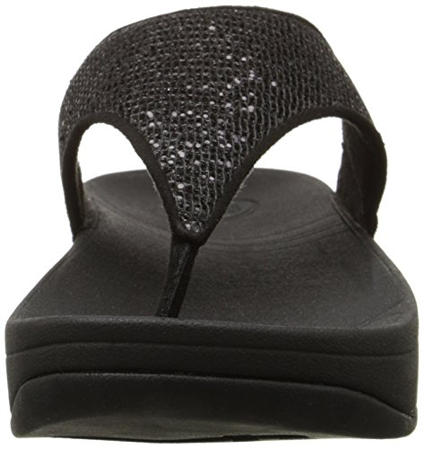 Fitflop Lulu Superglitz de la mujer sandalias de textil Negro
