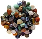 One Pound of Brazilian Polished Stones Packaged in a Velvet Bag 23-28 Pieces Per Pound