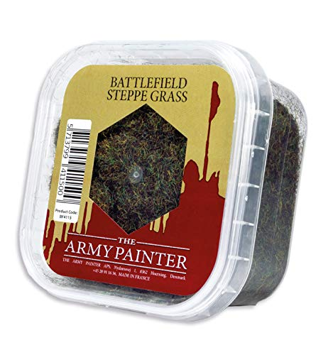 The Army Painter Battlefield Essential Series: Battlefield Steppe Grass for Miniature Bases and Wargame Terrains - Static Grass for Bases of Miniature Toys, 150 ml from The Army Painter