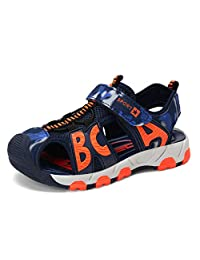 Z.SUO Boys'Outdoor Sport Closed-Toe Sandals Kids Velcro Breathable Mesh Water Sandals Shoes(Little Kid/Big Kid)