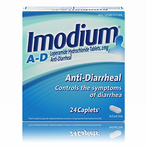 Imodium A D Diarrhea Relief Caplets  24 Count  2 Mg