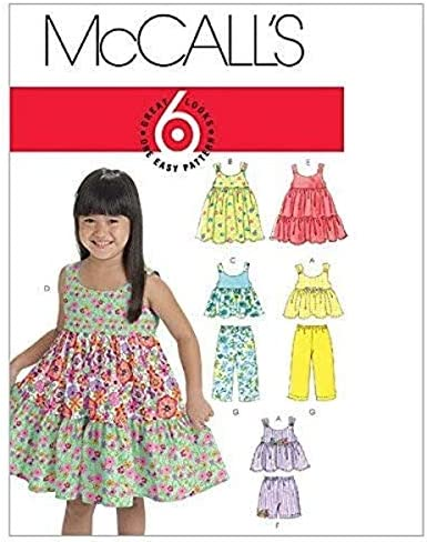 McCall/'s 3882 Children/'s and Girls/' Dresses Sewing Pattern Cute Dresses for Spring Summer or Special Occasions from 2002 New and Uncut
