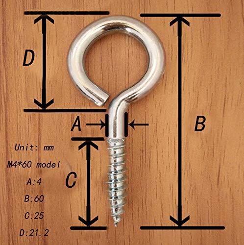 M3 40 304 en acier inoxydable anneau vis /à /œil de mouton rond auto vis de taraudage anneau avec attache porte loquet boucle 20PCS