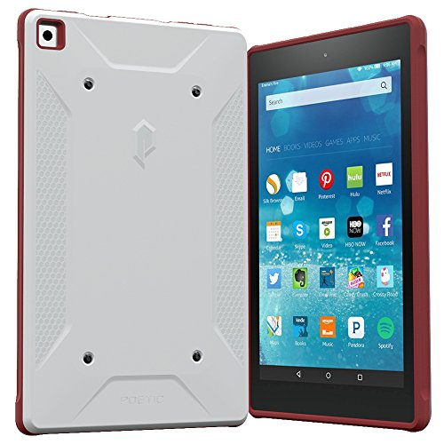 Fire HD 8 (Old 2015 Model Only) Case, Poetic QuarterBack [Corner Protection][Dual protection] - Stylish rugged PC+TPU Case for Amazon Fire HD 8 (2015 Old Model)(NOT FIT 2016 NEW MODEL) ()