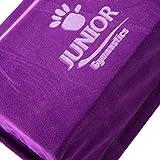 Junior Gymnastics Balance Beam – 8 Ft Folding Foam Low Floor Beam – Premium Faux Suede with Additional High Density EVA Foam Strip for Safety