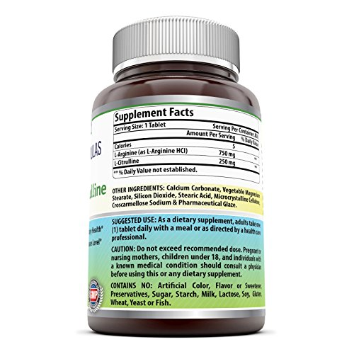 Amazing Nutrition L-Arginine / L-Citrulline Complex 1000 ...