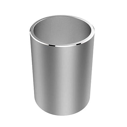 1 pieza portavasos lápiz metal moderno para el organizador de escritorio de oficina, plata