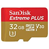 SanDisk Extreme PLUS 32GB microSDHC UHS-I/V30/U3/Class 10 Card with Adapter...