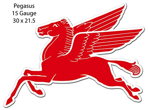 Garage Art Signs Pegasus Mobil Oil Laser Cut Out Sign 21.5x30