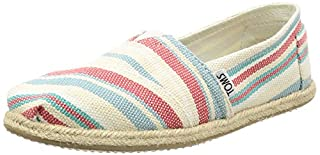 TOMS Women's Seasonal Classics Pale Pink Woven Stripe Rope Sole Loafer (6.5) (B01H61BWOS) | Amazon price tracker / tracking, Amazon price history charts, Amazon price watches, Amazon price drop alerts