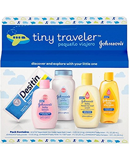 Johnson & Johnson Baby Take Along Travel Pack (Baby powder, Wash, Shampoo,...