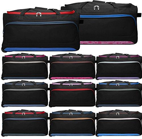 Trolleytasche Calgary Grundfarbe Schwarz jede Tasche ist anders Muster nicht frei Wählbar Reißverschlüsse und Applikationen in unterschiedlichen Farben Einzelstücke Fa. Bowatex
