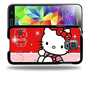 Case88 Designs Hello Kitty Collection 0627 Protective Snap-on Hard Back Case Cover for Samsung Galaxy S5