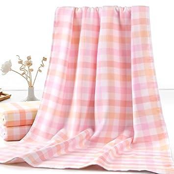 JAYSK Uno de los velo la accidentada toalla toalla atrás no-twist hilo Super Absorbentes toalla de baño Casa hombres y mujeres solteros, Rosa: Amazon.es: ...