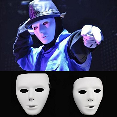 Face Mask Halloween Party Mask HALLOWEEN Hip-Hop Ghost Dance Masked dancers Qi ghost Glow dance -Pier 27