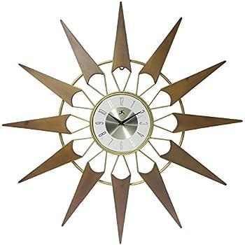 Amazon.com: Telechron Spindle Wall Clock, Dark Wood: Home