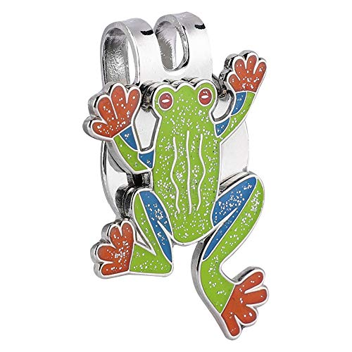 (Golf Hat Clip, Adorable Frog Shape Metal Golf Mini Magnetic Ball Marker Golfer Hat Visor Clip Training Accessory)