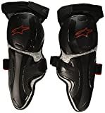 Alpinestars 6502316-106-LXL Unisex-Adult Vapor Pro Knee Protector (Black/Gray, Large/X-Large)