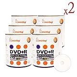 Smart Buy 1200 Pack DVD+R 4.7gb 16x White Printable Inkjet Blank Media Record Disc, 1200 Disc 1200pk