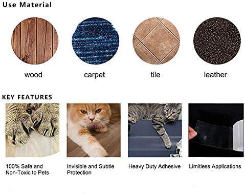 Cinta de entrenamiento antiarañazos para gatos, protector contra rasguños mascotas Rollo de cinta disuasoria de rasguños para gatos para sofá, muebles, alfombras, puertas, 3.94 pulgadas x 10 metros: Amazon.es: Hogar