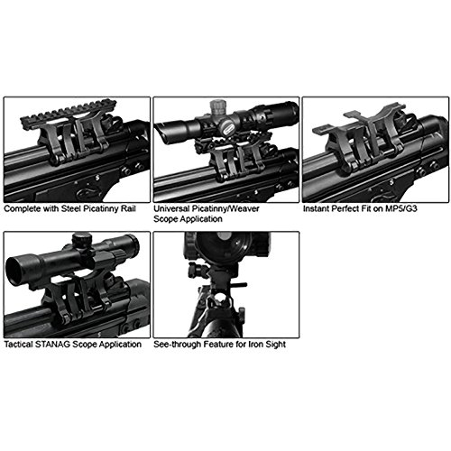UTG MP5 Steel Claw Mount with STANAG to Picatinny Adaptor
