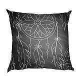 Boho style Elegant Print Pillow Case Polyester Sofa Car Cushion Cover Home Decor 18*18inch (C)