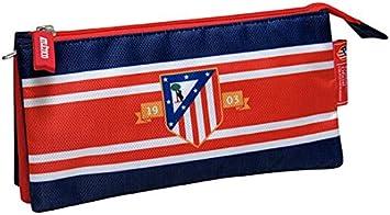 Atletico de Madrid- Estuche portatodo Triple Bordado,, 22 cm (CYP Imports PT-223-ATL): Amazon.es: Juguetes y juegos