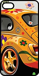Hippy VW Bug Black Plastic Case for Apple iPhone 4 or iPhone 4s