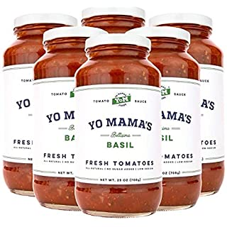 Gourmet, Keto & Paleo Certified Tomato Basil Pasta Sauce Multi Pack | (6) 25 oz Jars – No Sugar Added, Gluten Free, Preservative Free, Keto and Paleo Certified, and Made with Whole, Non-GMO Tomatoes!