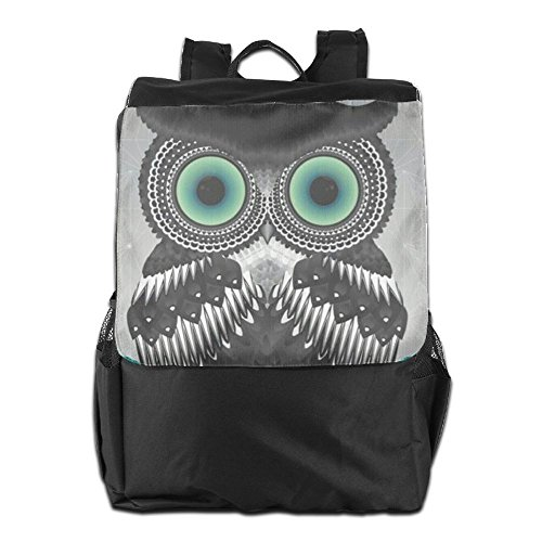 Storage Women Shoulder Owl Men Personalized Dayback Adjustable And Outdoors Travel Strap Camping For Cool HSVCUY Backpack School xPR6wzaz0q