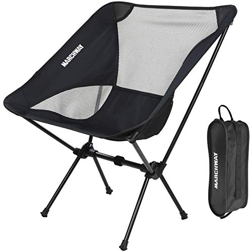 - Ultralight Folding Camping Chair, Portable Compact for Outdoor Camp, Travel, Beach, Picnic, Festival, Hiking, Lightweight Backpacking (Black)