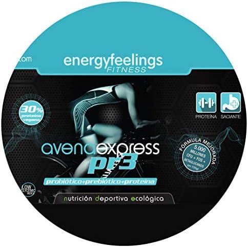 Energy Feelings   Avena Express PR3 Ecológica en Polvo 1 Kg   Probiótico   Prebiótico   30% de proteína   Vegano   Sin Gluten   Sin lactosa   Azúcar ...