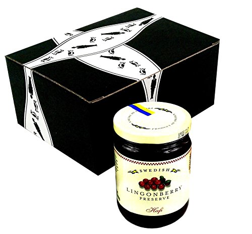 Hafi Lingonberry Preserves, 14.1 oz Jar in a Gift Box by Black Tie Mercantile