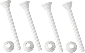 Wilton Bakers Best Disposable Pillars with Rings, 7-Inch, 4-Pack