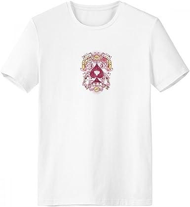 DIYthinker Los juegos de azar Utensilios modelo de los naipes de cuello redondo camiseta blanca de manga corta Comfort camisetas deportivas de regalos - Multi - S: Amazon.es: Ropa y accesorios