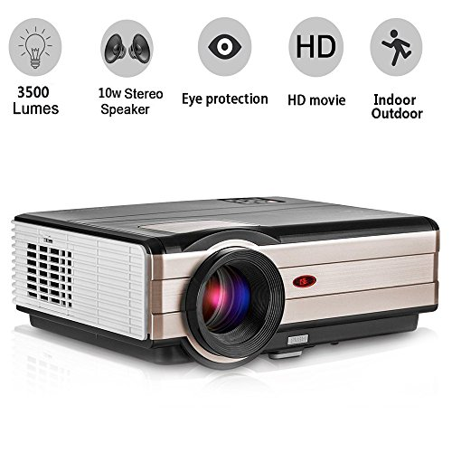 HD Movie Gaming Projector 3500 Lumens, Multimedia Home Th...
