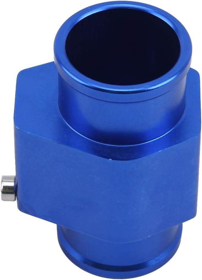 Zeigen LWANFEI Aluminium Auto Wassertemperatur Joint Rohr Sensor Manometer K/ühlerschlauch Adapter