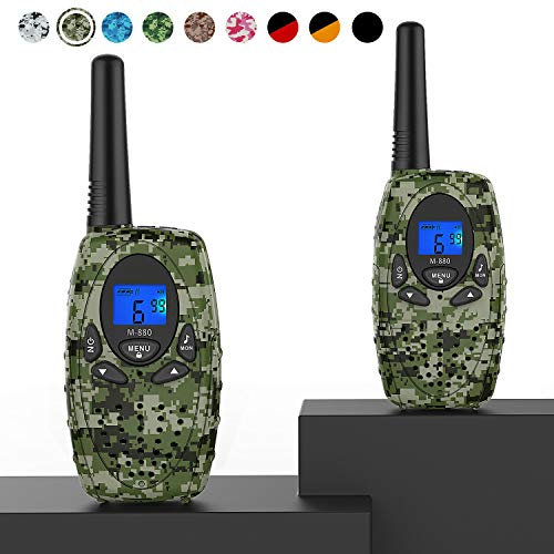 Topsung M880 Walkie Talkies, Two Way Radios for Outdoor Adventures 22 Channels 3 Miles