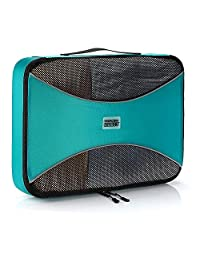 Pro Packing Cubes | MEDIUM Travel Packing Cube |Ultra Lightweight Luggage Organizer for Travel | Featuring Durable Rip-Stop Nylon and Reliable YKK Zippers (Aqua blue)